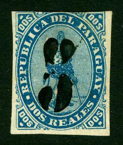 PARAGUAY  1878  LION  5c on 2r  - Black Surcharge - Scott # 5  MINT MH
