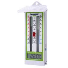 DIGITAL MAX MIN GREENHOUSE THERMOMETER GARDEN INDOOR OUTDOOR WALL ROOM - IN-058