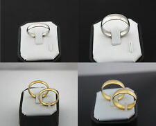 LOT DE 100 BAGUE Mix 4 Style rings Femme/Homme Wedding 4/6mm Bagues NEUF