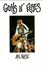 Axl Rose-Guns N' Roses- Publicity Postcard C506