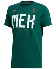 fd9f05214 adidas Mens Green World Cup Soccer Mexico Tee Shirt Tops Size Small