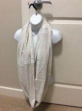 Lululemon Sun Salutation Circle Scarf Heathered White NWT *eternity scarf*