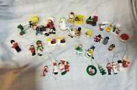 Vintage Retro Lot of Wooden Christmas Ornaments,