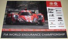 Le Mans FIA WEC 2017 Silverstone CEFC Manor TRS Racing Oreca #24 #25 Signed Card