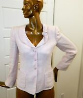 Armani Collezioni Italy sz 44 US 10 Pink Ivory Rayon Flax Blazer Jacket