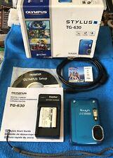 Olympus Tough Stylus TG-630 12MP Waterproof Digital Camera~~NICE~~BUNDLE~~
