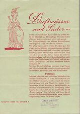FRANKFURT/MAIN, Prospekt 1950, Patentex GmbH Duftwasser Puder Kosmetik