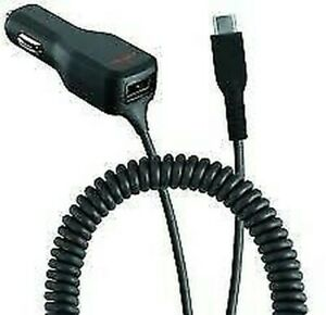 Ventev 12W (2.4A) In Car Dashport Double USB Car Charger with Micro USB Cable