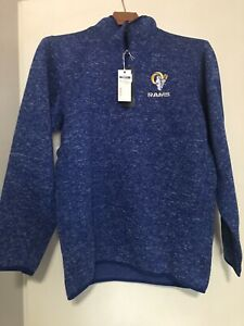 Los Angeles Rams Antigua Fortune 1/4 Zip Jacket Men's XL NWT