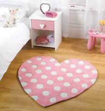 Polka Heart Kids / Childrens Play Rug 90x90cm