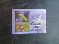 2004 GRENADA CARRIACOU ORCHIDS 2 STAMP MINI SHEET MNH