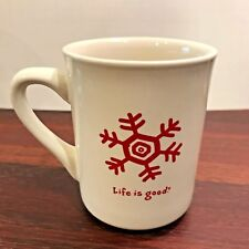 Life Is Good Coffee Mug Everyday Red Snowflake White Tea Cup Do What You Like