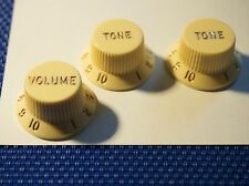 VINTAGE 60s Classic Player Fender Stratocaster Strat Guitar knobs aged white