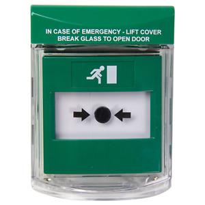 STI Call Point Cover, Surface Mount Green (STI-6831/G)