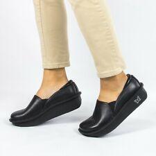 Alegria DEB 601 Debra Leather Professional Closed Back Black Women's Size 39