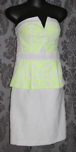 Womens size 6-8 strapless peplum short dress made by SEDUCE