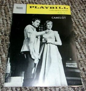 Majestic Theatre Playbill - Camelot - Julie Andrews february 1961 broadway