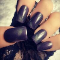 Hand Painted Gel False Nails Witch Green Square Short