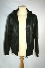 Black Leather bomber Yohji Yamamoto Y-3 adidas jacket size Medium