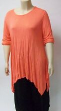 SARAH SANTOS,THEIR SIZE XXL,ORANGE 100% VISCOSE LONG SLEEVE SHIRT,MADE IN ITALY.