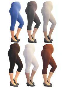 Maternity 3/4 Trousers Capri Maternity Leggings Cotton