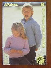 PATONS KNITTING - 656 BOY GIRL JUMPER JACKET CARDIGAN 8-12 PLY