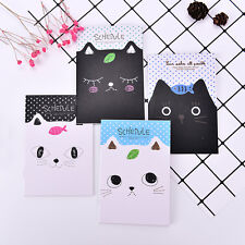2X Office Stationery Cat Notebook Students Diary Notepad School Stationary *