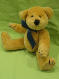 """RARE Attic Treasures TY 1st Gen Tush Tag HENRY GOLD 8"""" Jointed Teddy Bear PLUSH"""