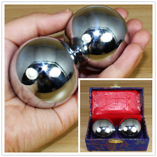 38mm Sliver Chinese Health Exercise Stress Relaxation Therapy Baoding Ball Train