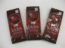 1,000 Icicles Strand Set of 3 Boxes For Christmas 18.5 Inches Long New ch05