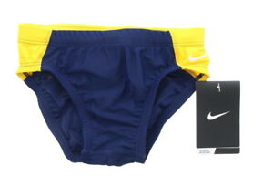 Nike Boys Youth Team Competition Color Block Brief Swim Trunks Swimsuit TESS0048