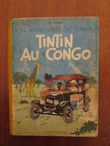Tintin au Congo - B1 1946 - EO couleur - Mauvais état