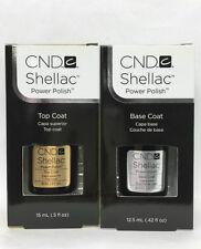CND Shellac Gel Polish- LARGE Base + Top Coat 0.5oz/15ml