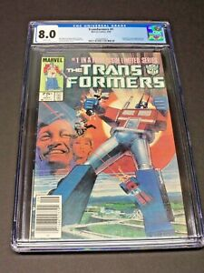 TRANSFORMERS # 1 CGC 8.0 WP NEWSSTAND. 1st Appearance of Transformers In Marvel