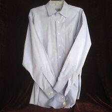 Talbots Mens  16 34/35 Blue Long Sleeve Wrinkle Resistant Dress Shirt
