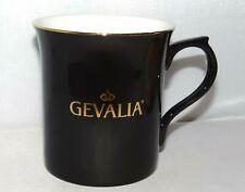 Gevalia 10oz. Taza De Café Taza De Té acentos de oro Cerámica Negro Brillante