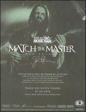 John Petrucci Ernie Ball Music Man Majesty Guitar ad 8 x 11 advertisement print