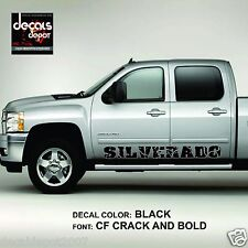 SILVERADO (2) Rocker panel door runner decal Fits: Chevy Silverado 4 door trucks