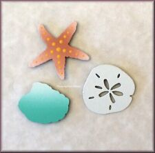 Sea Shell Metal Magnets Set Of 3 By Roeda® Made in USA Free U.S. Shipping