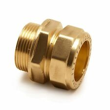 "12mm Compression x 3/8"" Inch BSP Male Iron Adaptor / Coupler 