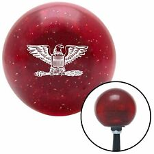White Colonel Red Metal Flake Shift Knob USA Shifter Auto Manual tree street fly