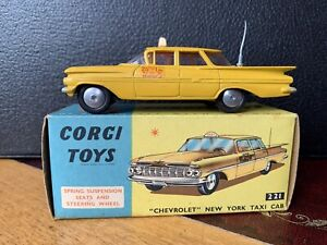 Corgi 221 Chevrolet New York Taxi Cab In Excellent Nr Mint Condition