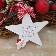 Personalised Christmas Tree Decoration  Family Santa  Christmas Star Sign Gift