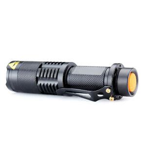 nw 3000 Lumens Adjustable Focus 5-Modes T6 LED Flashlight Torch W/Clip