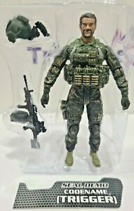 "Elite Force - Seal Demo TRIGGER 4"" Figure Loose Navy SEALS Fire Team 1:18 BBI"