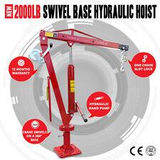 NEW 2000LB (900kg) Swivel Hydraulic Crane Hoist, Ute,Trucks & Cable Winch 360deg