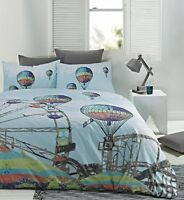 Retro Carnival Funfair Quilt Doona Cover Set - Single Double Queen King
