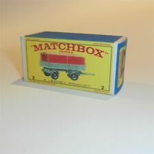 Matchbox Lesney  2 d Mercedes Trailer empty Repro E style Box