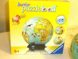 Ravensburger Junior 3D Puzzleball stand globe 96 Piece Complete instructions