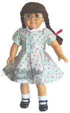 "Victory Garden Style Dress & Hair Ribbons made for 18"" Molly Doll Clothes REPRO"